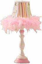 FLZ Table Lamp Bedside Lamp, Feather Lamp Wedding