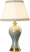 FLZ Table Lamp Chinese Crystal Glaze Desk Lamp,