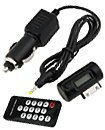 FM TRANSMITTER WITH CAR CHARGER & REMOTE FOR IPOD