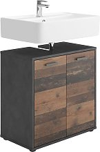 FMD Bathroom Sink Cabinet with 2 Doors Matera Old