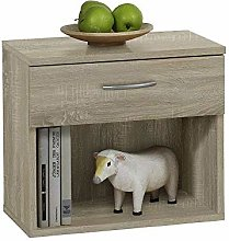 FMD Bedside Cabinet Jonny, 42.0 x 37.5 x 30.0 cm,