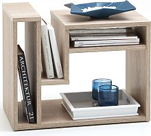 FMD Coffee Table with Magazine Rack Oak 648-001
