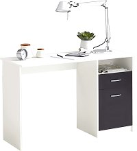 FMD Desk with 1 Drawer 123x50x76.5 cm White and