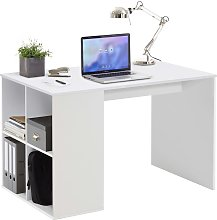 FMD Desk with Side Shelves 117x72.9x73.5 cm White
