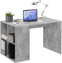 FMD Desk with Side Shelves 117x73x75 cm Concrete