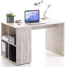 FMD Desk with Side Shelves 117x73x75 cm Sand Oak -