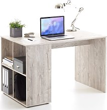 FMD Desk with Side Shelves 117x73x75 cm Sand Oak
