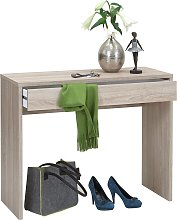 FMD Desk with Wide Drawer 100x40x80 cm Oak