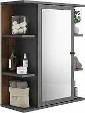 FMD Mirrored Bathroom Cabinet Matera Old Style Dark