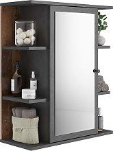 FMD Mirrored Bathroom Cabinet Matera Old Style Dark