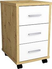 FMD Mobile Drawer Cabinet Artisan Oak Brilliant