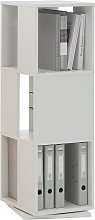 FMD Rotating Filing Cabinet Open 34x34x108 cm White