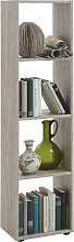 FMD Standing Shelf with 4 Compartments Sand Oak