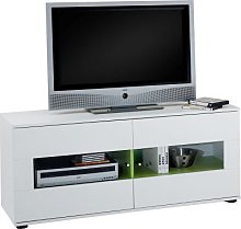 FMD Tv/Hifi Cabinet with 2Doors Melamine Panels