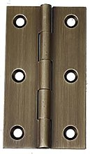 FMOGE 2 Pcs Brushed Nickel and Brass Color Solid