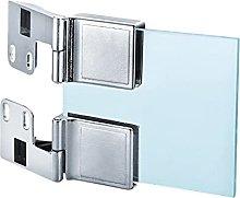 FMOGE 2 PCS Glass Hinges, Hinges, Wooden Cabinet