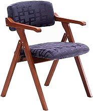 FMOGE Barstools Chairs Solid Wood Folding Chair