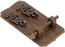 FMOGE Door Handle Set Chinese Style Antique Copper