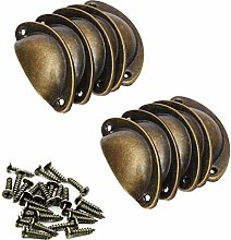 FMOGE Kitchen Cabinet Handle Pull 10-Pack Bronze