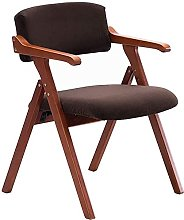 FMOGE Solid Wood Folding Dining Chair Chair
