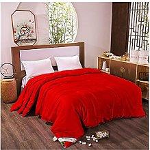 FMOGQ Yellow 100% Silk Comforter Duvet Quilt
