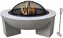 FMXYMC Outdoor Fire Pit Table, Outdoor Heater Wood