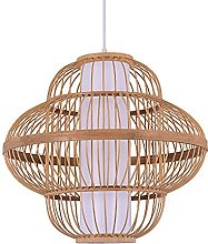 FMY Lamp, Bamboo Lampshade, Height Adjustable E27