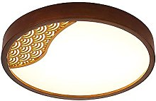 FMY Modern Round Wooden Ceiling Lamp,Three-Color