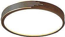 FMY Wooden Circular Ceiling Lamp,4500K Neutral