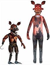 FNAF Halloween Costume, Nightmare Foxy Jumpsuit
