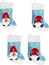 FNSAOM 4PCS Christmas Stocking,Swedish Santa Gnome