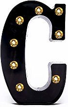 Foaky Black LED Marquee Number Lights Sign Light