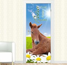 Foal, Horse Door Sticker East Urban Home