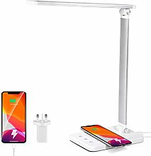 FOCASEY LED Desk Lamp with Wireless Charger USB