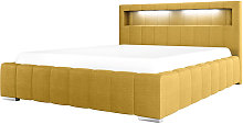 Foenum - Modern Bed with a Linen Storage, Yellow