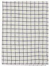 Fog Linen Work - Black & Natural Graph Linen Tea