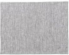 Fog Linen Work - Gray White Stripes Linen Placemat