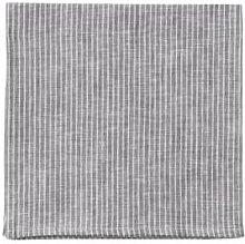 Fog Linen Work - Grey & White Stripes Linen Napkin