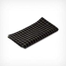 Fog Linen Work - Set of 2 Black Linen Checkered