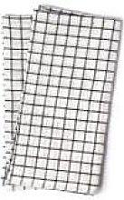 Fog Linen Work - Set of 2 White Linen Checkered