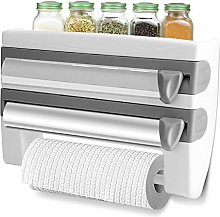 Foil and Cling Film Dispenser, Wall Roll Holder,