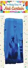 Foil Door Curtain (One Size) (Blue) - Henbrandt