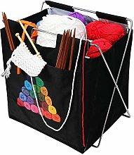 Fold-Up Yarn Caddy Metal Knitting Storage