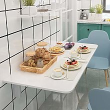 Fold wall mounted table - Save space- White Dining