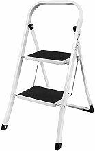 Foldable 2 Step Ladder Non Slip Tread Safety