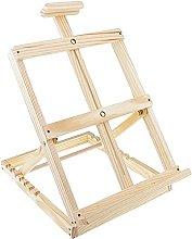 Foldable Adjustable Wooden Desk Table Easel