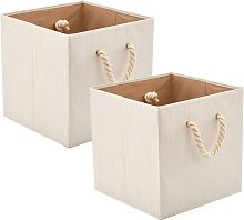 Foldable Bamboo Cotton Fabric Storage Box With
