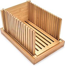 Foldable Bamboo Wood Bread Slicer Cutter Toast