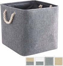 Foldable Canvas Storage Box, Cloth Basket (33 x 33