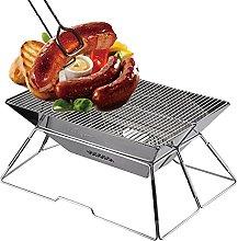 Foldable Charcoal BBQ Grill, Portable Folding BBQ